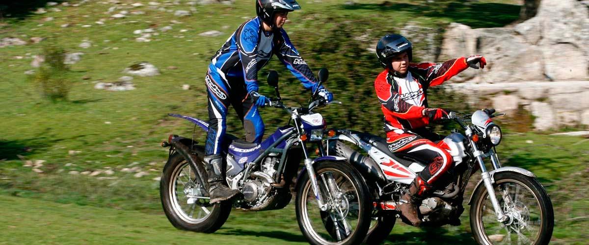 Motos trial de excursion