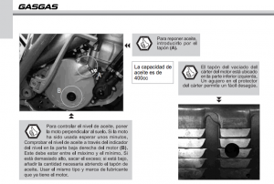 capacidad aceite motor Gas Gas Pro