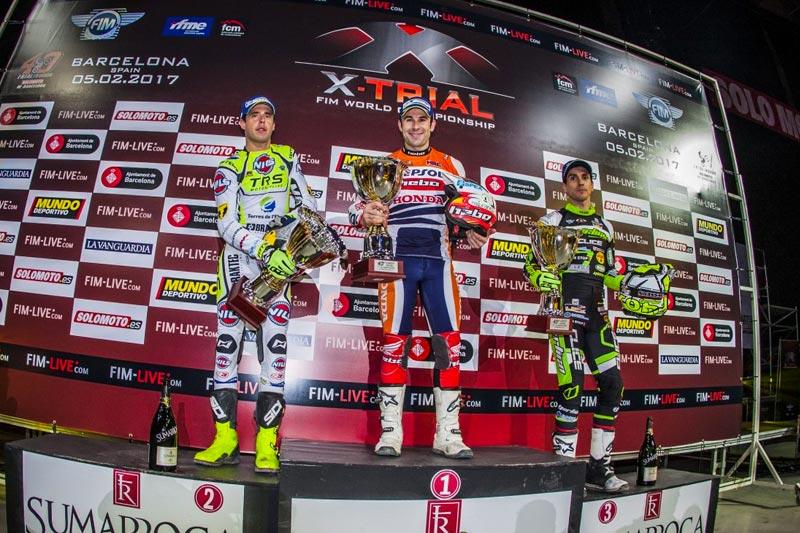 podium xtrial barcelona 2017