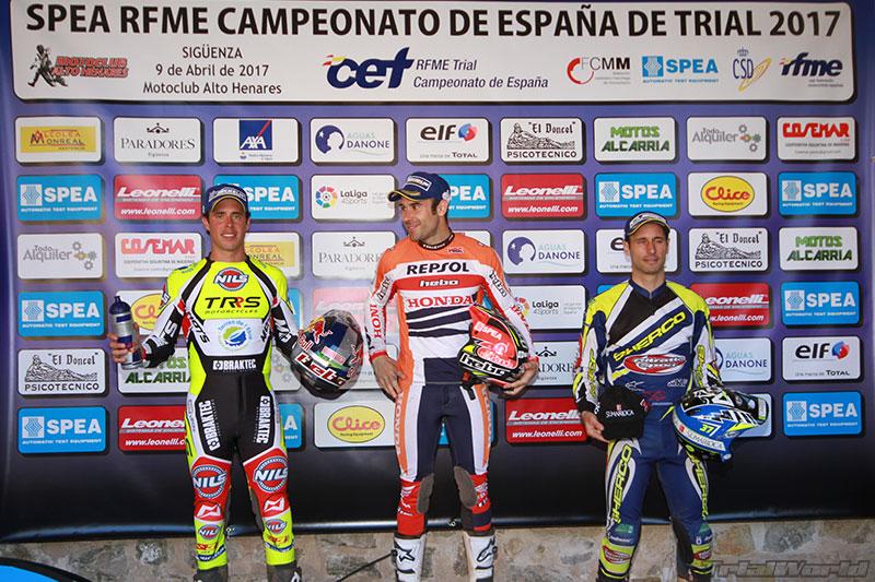 podium cet trial siguenza 2017