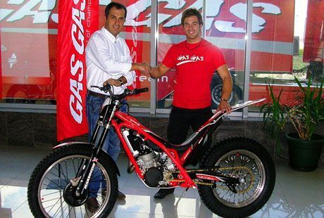 Loris Gubian firma con Gas Gas.