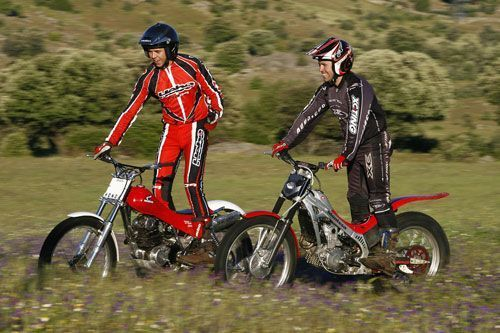 Honda TLR 250 y Montesa Cota 4RT