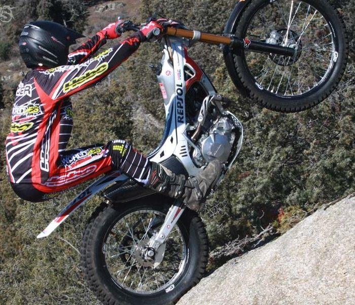 Prueba neumaticos Trial Dunlop D803 GP