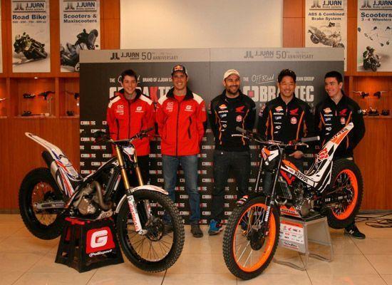 Braktec presenta sus pilotos del mundial de Trial 2015