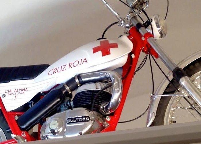 Unidad Moto Bultaco Alpina de la Cruz Roja