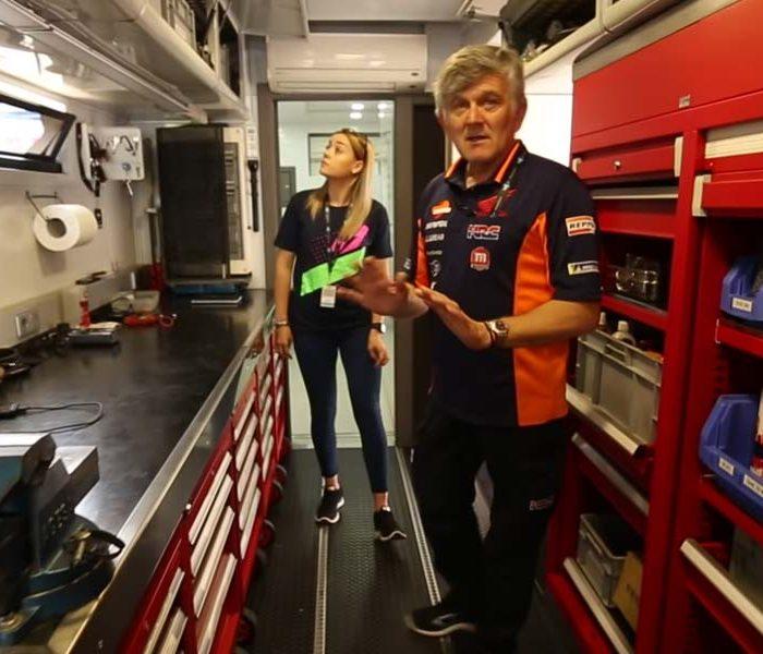 VIDEO | Así es el camión del equipo Montesa Repsol Honda Team