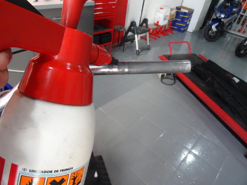 producto limpieza acelerador moto de trial