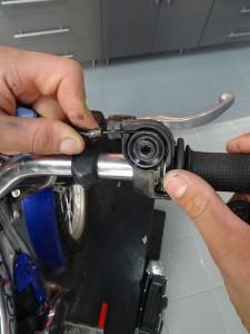 desmontaje acelerador moto de trial