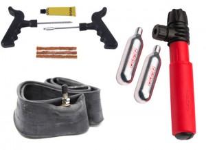 kit reparacion pinchazos para moto de trial