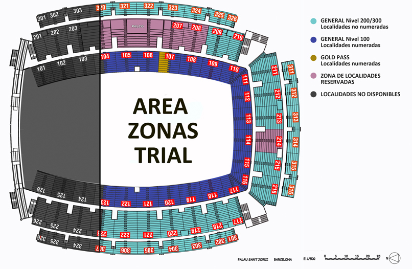 Palau Sant Jordi Mapa Zonas.Todo Sobre El Trial Indoor De Barcelona 7 Febrero 2016