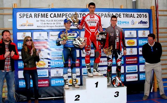 podium nacional trial bocairent 2016