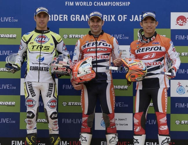 podio gp japon trial