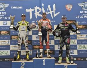 Podium GP Alemania Mundial Trial 2016
