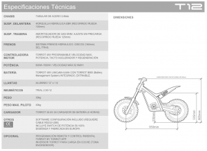 Torrot Trial T12 Ficha Técnica