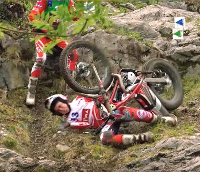 Las caídas de Trial más duras del GP de Francia