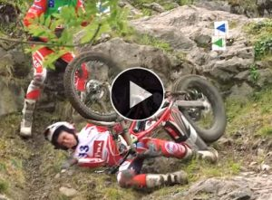 video caidas moto trial