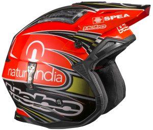 casco hebo toni bou replica 2016 negro y rojo