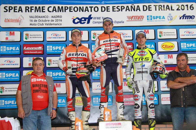 podium cet trial valdemanco 2016