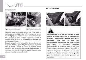 capacidad aceite motor Jotagas JT