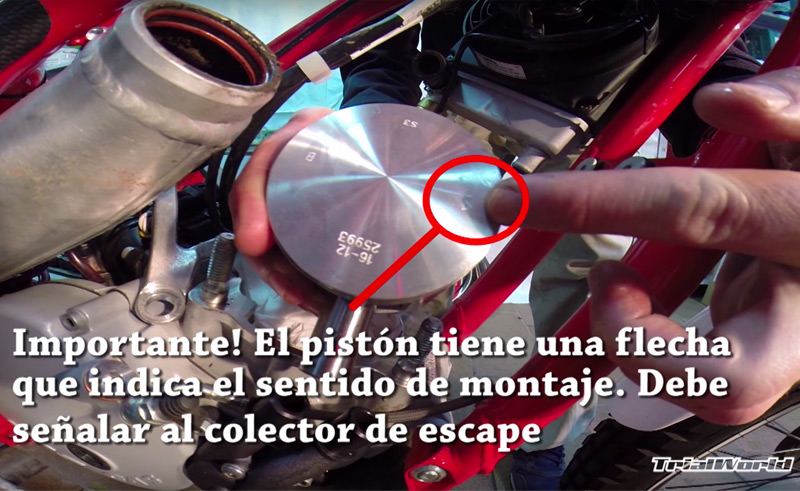 montaje piston moto trial