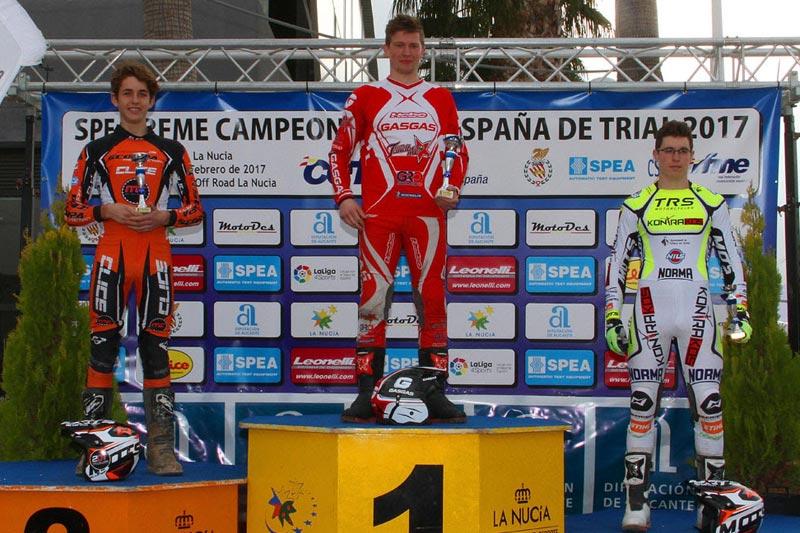 podium tr2 trial la nucia 2017