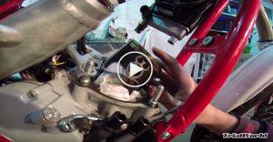 sustituir cilindro y piston moto de trial