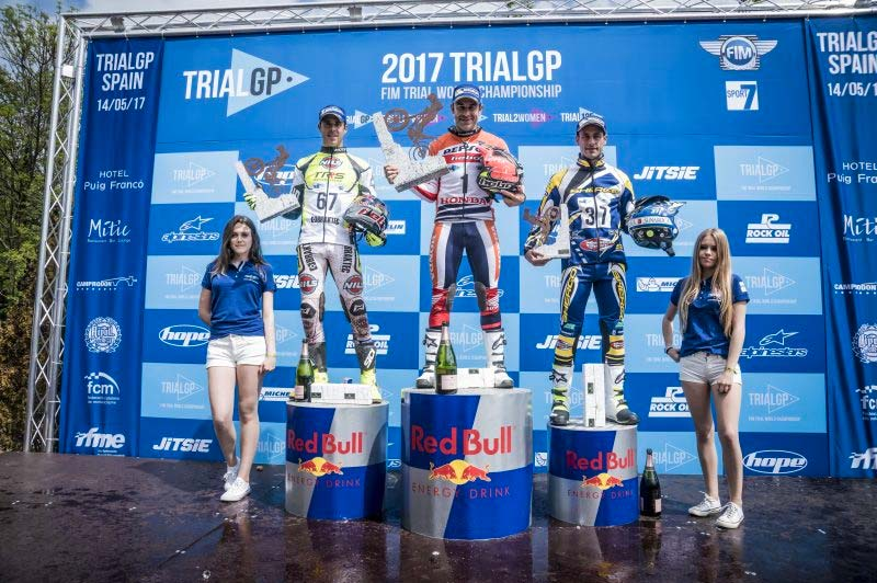 podium gpo españa trial 2017