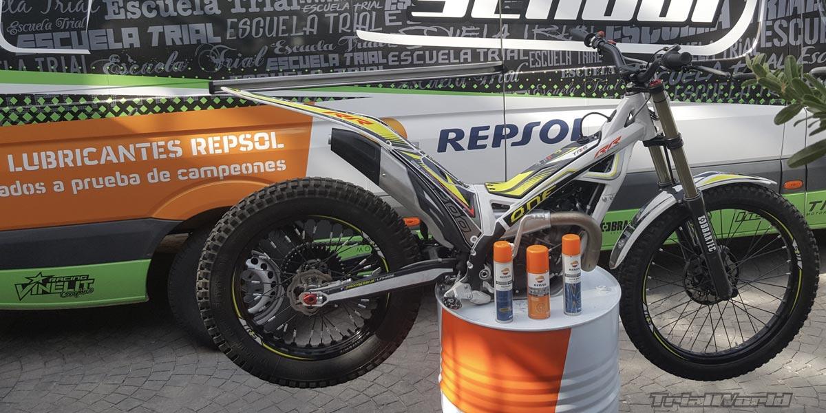 lubricación moto de trial