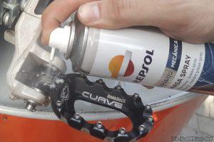 lubricar estriberas moto de trial