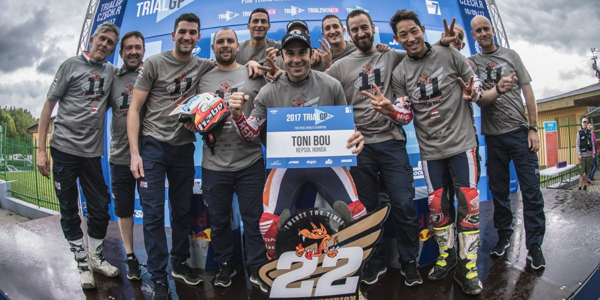 toni bou 22 world champion