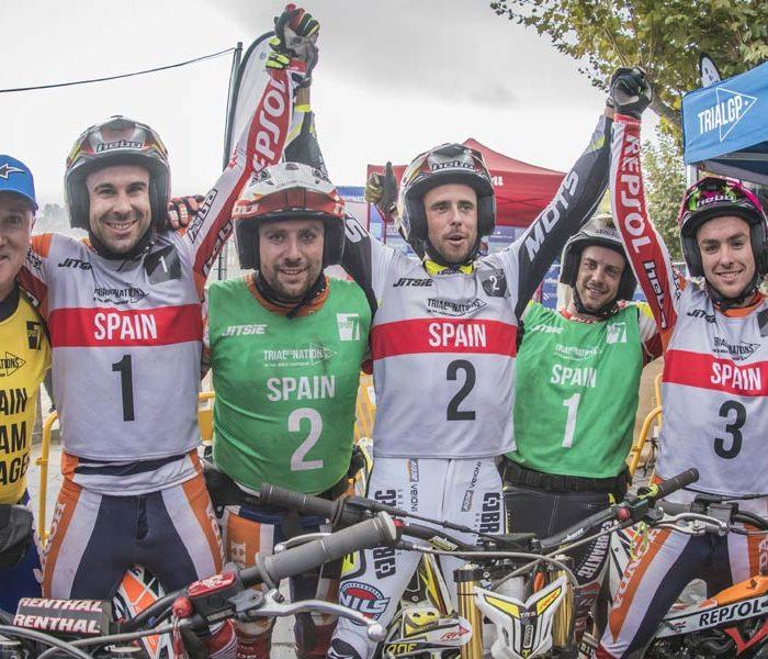 España suma en Baiona su 24º victoria en el Trial de las Naciones