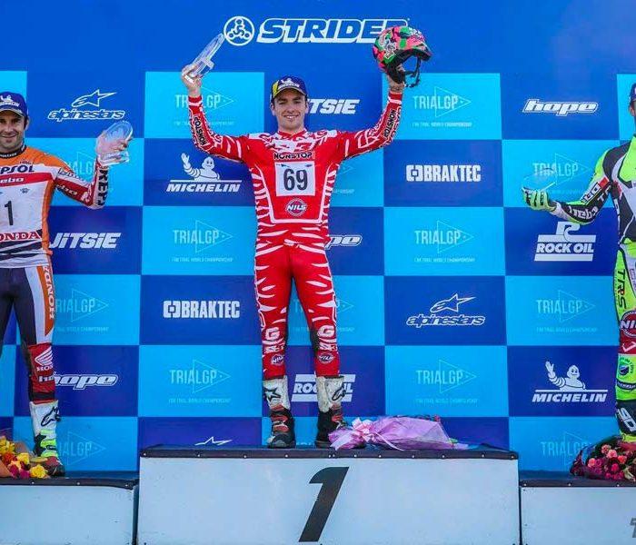 Jaime Busto logra su primera victoria en TrialGP