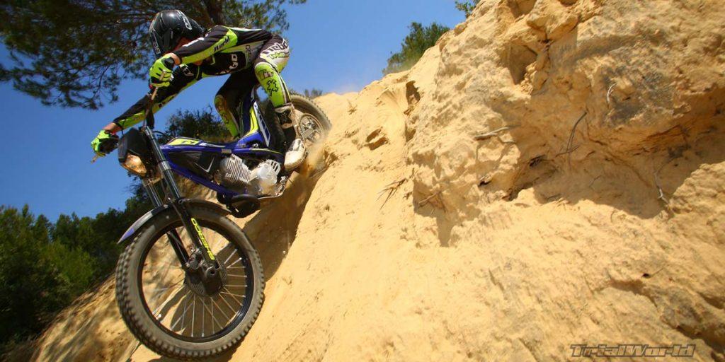 prueba sherco ty 125 classic trial excursion