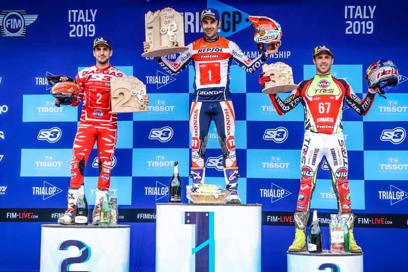 podium trial gp italia 2019