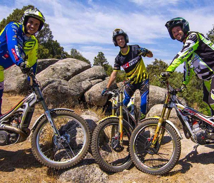 VIDEO | Motogame en moto de Trial con Nachette y Mario Román