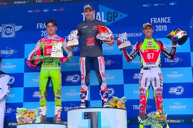 podium trialgp francia 2019