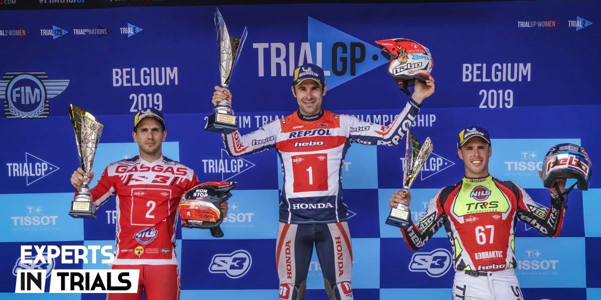 podium gp belgica trial