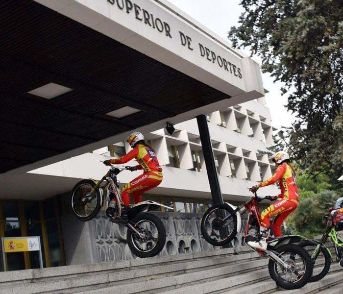 El Consejo Superior de Deportes recibe al equipo Nacional femenino de Trial